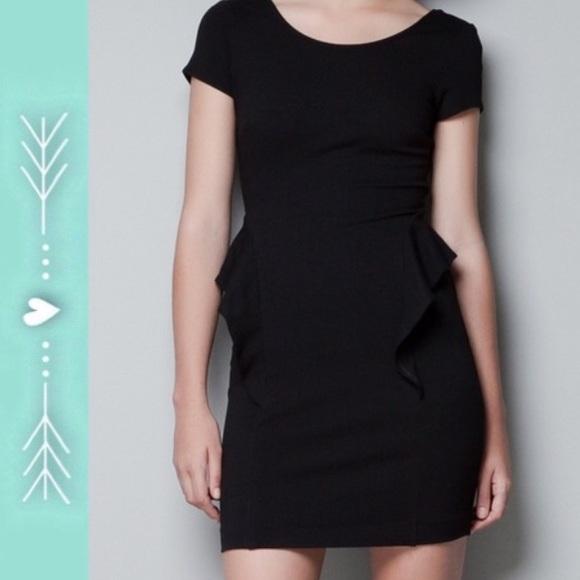 a9f0f39b9dc0 Black Peplum Dress Zara – Little Black Dress | Black Lace Bridesmaid ...